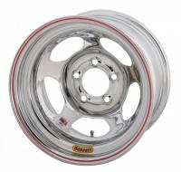 "Bassett Racing Wheels - Bassett Inertia Advantage Wheel - 15"" x 10"" - 5 x 5"" - Chrome - 5.5"" Back Spacing - 20 lbs. - Image 2"