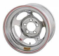 "Bassett Racing Wheels - Bassett Inertia Advantage Wheel - 15"" x 10"" - 5 x 5"" - Chrome - 5"" Back Spacing - 20 lbs. - Image 2"