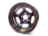 """Bassett IMCA Inertia 15"""" x 8"""" - Bassett IMCA Inertia 15"""" x 8"""" -5 x 5"""" - Bassett Racing Wheels - Bassett IMCA Inertia Wheel - 15"""" x 8"""" - 5 x 5"""" - Black - 4"""" Back Spacing - 19 lbs."""