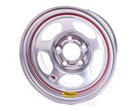 "Bassett IMCA Inertia 15"" x 8"" - Bassett IMCA Inertia 15"" x 8"" - 5 x 5"" - Bassett Racing Wheels - Bassett IMCA Inertia Wheel - 15"" x 8"" - 5 x 5"" - Silver - 4"" Back Spacing - 19 lbs."