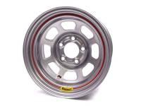 "Bassett IMCA D-Hole 15"" x 8"" - Bassett IMCA D-Hole 15"" x 8"" -5 x 4.5"" (Ford) - Bassett Racing Wheels - Bassett IMCA D-Hole Wheel - 15"" x 8"" - 5 x 4.5"" - Silver - 3"" Back Spacing - 19 lbs."