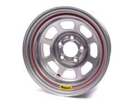 "Bassett IMCA D-Hole 15"" x 8"" - Bassett IMCA D-Hole 15"" x 8"" -5 x 4.5"" (Ford) - Bassett Racing Wheels - Bassett IMCA D-Hole Wheel - 15"" x 8"" - 5 x 4.5"" - Silver - 4"" Back Spacing - 19 lbs."