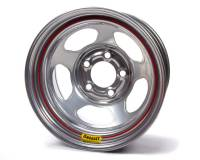 "Bassett Racing Wheels - Bassett Armor Edge Dirt Track Wheel - 15"" x 8"" - 5 x 5"" - Silver - 3"" Back Spacing - 19 lbs."