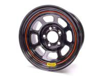 "Bassett D-Hole 15"" x 8"" - BassettD-Hole15"" x 8"" -5 x 5"" - Bassett Racing Wheels - Bassett Spun Wheel - 15"" x 8"" - 5 x 5"" - Black - 3"" Back Spacing - 17 lbs."