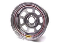 """Bassett D-Hole 15"""" x 8"""" - BassettD-Hole15"""" x 8"""" -5 x 5"""" - Bassett Racing Wheels - Bassett Spun Wheel - 15"""" x 8"""" - 5 x 5"""" - Silver - 5"""" Back Spacing - 17 lbs."""
