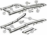 """Boyce Trackburner Performance Products - Boyce Trackburner 3"""" Crossover Tube Assembly - Fits 3"""" - 3-1/4"""" or 3-1/2"""" Collectors On 25"""" Centers or Less (Figure F) - Image 2"""