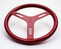 "Steering Wheels - Aluminum Competition Steering Wheels - ButlerBuilt Motorsports Equipment - ButlerBuilt® 15"" Flat Aluminum Steering Wheel - Red"