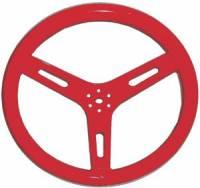 "ButlerBuilt Motorsports Equipment - ButlerBuilt® 15"" Flat Aluminum Steering Wheel - Red - Image 2"