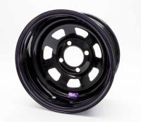 "4 x 4-1/2"" Bolt Pattern Wheels - 13"" x 7"" - 4 x 4-1/2""  Wheels - Bart Wheels - Bart Mini Stock Wheel - Black - 13"" x 7"" - 4 x 4.5"" Bolt Circle - 4"" Back Spacing - 16 lbs."