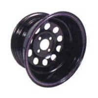 "Bart Wheels - Bart Mini Stock Wheel - Black - 13"" x 8"" - 4 x 4.25"" Bolt Circle - 2"" Back Spacing - 17 lbs. - Image 2"