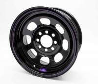 "Bart Multi-Fit Mini Stock Wheels - Bart Multi-Fit 14"" x 7"" - Bart Wheels - Bart Multi-Fit Mini Stock Wheel - Black - 14"" x 7"" - 4 x 4.25"", 4 x 4.50"" Bolt Circle - 4"" Back Spacing - 18 lbs."