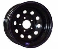 "Bart Wheels - Bart Economy Lightweight Wheel - Black - 15"" x 8"" - 5 x 4.5"" Bolt Circle - 2"" Back Spacing - 21 lbs. - Image 2"