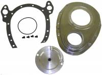 Timing Components - Timing Covers - Cloyes - Cloyes Quick Button™ Two-Piece Timing Cover - SB Chevy