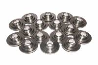 "Valve Spring Retainers - 10° Titanium Valve Spring Retainers - Comp Cams - Comp Cams 10° Titanium Valve Spring Retainers - Light Weight Lock Angle: 10° Valve Stem Size: All Valve Spring Diameter: 1.250"""