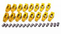 "Rocker Arms - Aluminum Roller Rocker Arms - SB Ford - Crane Cams - Crane Cams Gold Race Extruded Aluminum Roller Rocker Arms (16) - 1.6 Ratio - 3/8"" Stud - Stud Mount - SB Ford 289, 302, 351W"