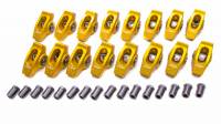 "Rocker Arms - Aluminum Roller Rocker Arms - SB Ford - Crane Cams - Crane Cams Gold Race Extruded Aluminum Roller Rocker Arms (16) - 1.7 Ratio - 7/16"" Stud - Stud Mount - SB Ford 289, 302, 351W"