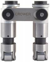 "Engine Components - Crower - Crower ""Hi-Seat"" Offset Roller Lifters - SB Chevy .200"" Offset Intake, .842"" Diameter w/ Integral Button - (Set of 16)"