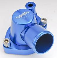 "CSR Performance Products - CSR Performance 360 Swivel Thermostat Housing - SB Ford - 1-1/4"" Hose Connection Blue - Image 2"