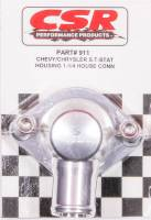 """Cooling & Heating - CSR Performance Products - CSR Performance Billet Aluminum 360° Swivel Thermostat Housing - Clear (Silver) Anodized - Chevy Big, SB - 1-1/4"""" Hose Connection"""