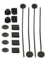 Fan Parts & Accessories - Electric Fan Mounting Kits - Derale Performance - Derale Electric Fan, Oil Cooler Nylon Mounting Kit - Includes 4 Plastic Rods - Clips and Pads