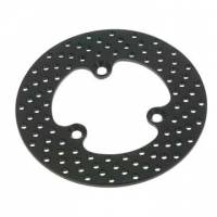 "Rotors - Aluminum Rotors - DMI - DMI Front 3-Lug Aluminum Brake Rotor - 10-1/8"" Diameter - Drilled"