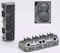 "Cast Iron Cylinder Heads - SB Chevy - Dart Cast Iron Cylinder Heads - SBC - Dart Machinery - Dart Iron Eagle Platinum Cylinder Head - Assembled - 64cc Chamber - 215cc Intake Runner - SB Chevy 327, 350, 400 - Straight Plug - 2.05"", 1.60"" Valves"