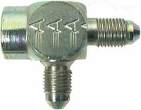 "Brake System Adapters - Tee Brake Adapters - Aeroquip - Aeroquip Steel Male -04 AN to 1/8"" NPT Female Pipe AN Tee Adaper"