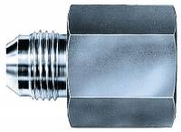 "Pipe Thread to AN Adapters - Female Pipe Thread to Male AN - Aeroquip - Aeroquip Steel Female 3/8"" NPT to Male -06 Adapter"