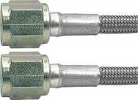"""Brake Hoses - #4 Braided Steel Hose - Straight -4AN / 90 Degree Ends - Aeroquip - Aeroquip -04 AN Teflon® Brake Hose - 21"""" - Straight, 90° Ends"""