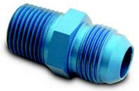 "Male Pipe Thread to AN Male Adapters - Male Pipe Thread to Male AN - Blue - A-1 Performance Plumbing - A-1 Performance Plumbing Straight -12 AN Male to 3/4"" NPT Adapter"