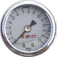 """AED Performance - AED 1.5"""" Screw-In Fuel Pressure Gauge - 0-15 PSI - Liquid Filled - Image 2"""