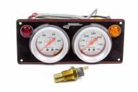 Analog Gauge Panels - 2 Gauge Dash Panels - Longacre Racing Products - Longacre AccuTech Sportsman 2 Gauge Panel - Black - WT/OP