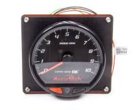 Memory Tachometers - In-Dash Memory Tachs - Longacre Racing Products - Longacre SMI Tach Black Tach 4.5 in w/Black Panel