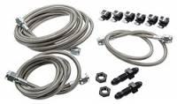 Brake Hoses & Lines - Brake Hose & Line Kits - Allstar Performance - Allstar Performance Front End Brake Line Kit For Dirt Modifieds w/ Aftermarket Calipers