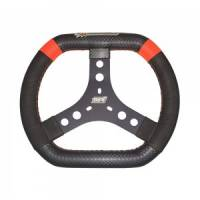 "Karting Parts - Karting Steering Wheels - MPI - MPI 12"" Aluminum Oval Wheel - High Grip - 1/2"" Dished"