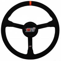 "Competition Steering Wheels - Steel - 15"" Steel Steering Wheels - MPI - MPI 15"" LW Steel Wheel - Suede Grip W/Thumb Insert - 3-1/4"" Dished"