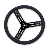 "Interior & Cockpit - Longacre Racing Products - Longacre 15"" Fat Grip Aluminum Steering Wheel - Black"