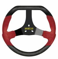 Sprint Car & Open Wheel - Sparco - Sparco F320U Steering Wheel - Red/Black