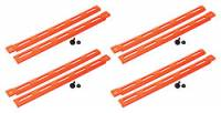 Body Installation Accessories - Body Braces - Allstar Performance - Allstar Performance Plastic Body Brace - Fluorescent Orange (Pack of 4)