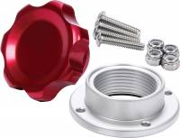 Oil Tank Parts & Accessories - Oil Tank Caps - Allstar Performance - Allstar Performance Small Fill Plug Kit With Aluminum Bolt-On Bung - Red