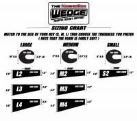 NecksGen Wedge Sizing Chart