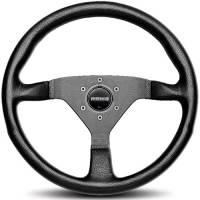 Street Performance / Tuner Steering Wheels - Momo Steering Wheels - Momo - Momo Monte Carlo 320 Steering Leather Black Stitch