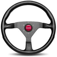 Street Performance / Tuner Steering Wheels - Momo Tuner Steering Wheels - Momo - Momo Monte Carlo 350 Steering Leather Red Stich