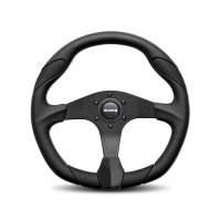 Street Performance / Tuner Steering Wheels - Momo Steering Wheels - Momo - Momo Quark Steering Wheel Polyurethane - Black