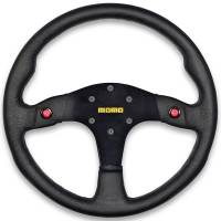 Steering Wheels - Steel Competition Steering Wheels - Momo - Momo MOD 80 Steering Wheel - Leather