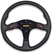 """Competition Steering Wheels - Steel - 13"""" Steel Steering wheels - Momo - Momo MOD 80 Steering Wheel - Leather"""