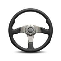 """Competition Steering Wheels - Steel - 13"""" Steel Steering wheels - Momo - Momo Race Steering Wheel Leather / Airleather"""