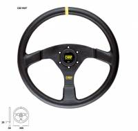 Cockpit & Interior - OMP Racing - OMP Velocita 350 Steering Wheel Black