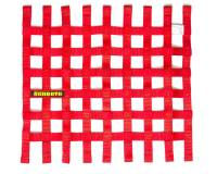 "Window Nets - Mesh Window Nets - Schroth Racing - Schroth 20"" x 18.5"" Window Net - Red"