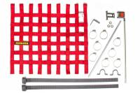 "Window Nets - Mesh Window Nets - Schroth Racing - Schroth 20"" x 18.5"" Window Net Kit w/Mounting Hardware - Red"